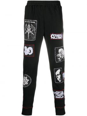 Czarne spodnie bawełniane Ktz
