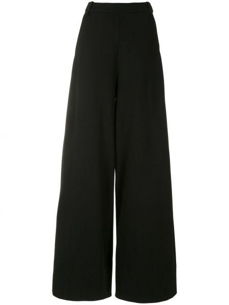 Черные свободные брюки с карманами свободного кроя на пуговицах Gloria Coelho