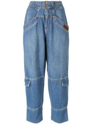 Синие брюки с завышенной талией Amapô
