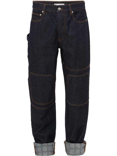 Хлопковые синие джинсы Jw Anderson