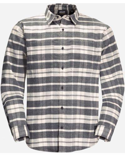 Теплая рубашка - белая Jack Wolfskin