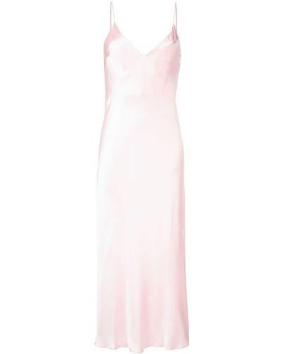 Платье миди розовое с V-образным вырезом Walk Of Shame