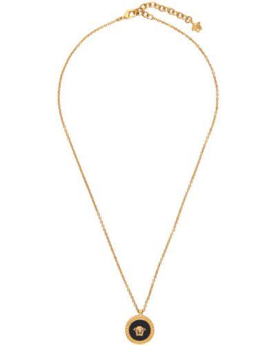 Czarny złoty naszyjnik Versace