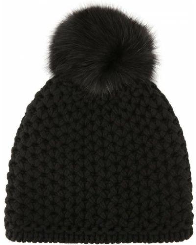 Вязаная шапка с помпоном с ушками Inverni