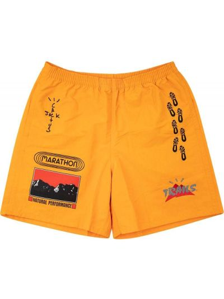 Żółte spodenki do pływania z printem Travis Scott Astroworld