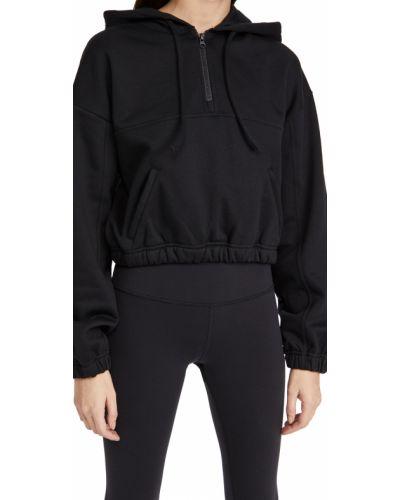 Czarna bluza z długimi rękawami bawełniana Alo Yoga