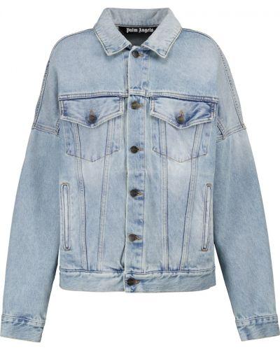 Хлопковая ватная синяя джинсовая куртка Palm Angels