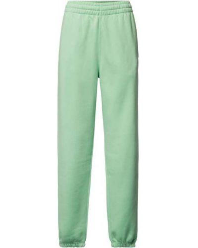 Zielone spodnie bawełniane Adidas Originals