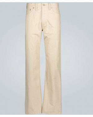 Бежевые прямые джинсы с жемчугом с карманами Rrl