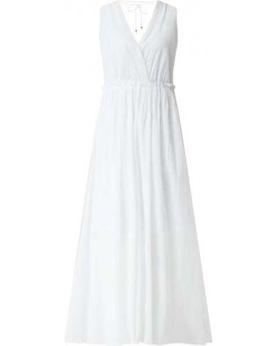 Sukienka rozkloszowana z falbanami - biała Ilse Jacobsen