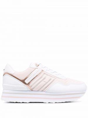 Розовые массивные кроссовки на шнуровке Tommy Hilfiger