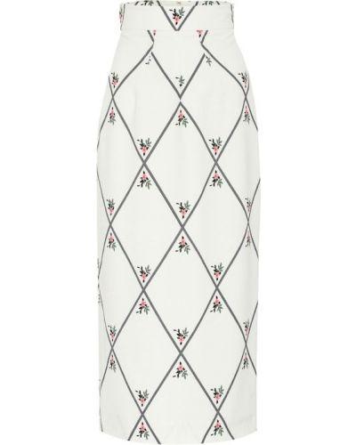 Белая юбка карандаш Emilia Wickstead