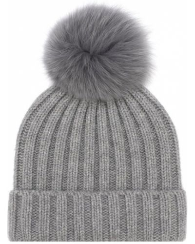 Вязаная шапка с помпоном с мехом Nima