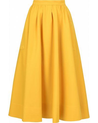 Желтая юбка Rochas