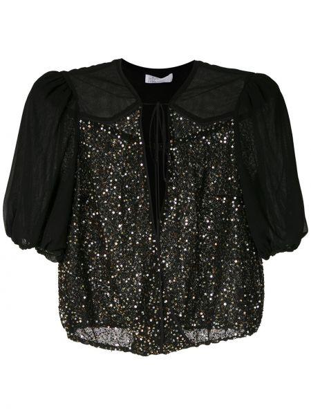 Блузка с пайетками прямая НК