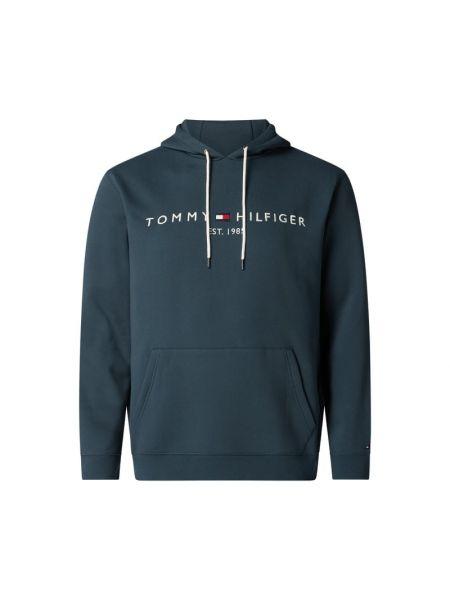 Bluza kangurka - turkusowa Tommy Hilfiger Big & Tall