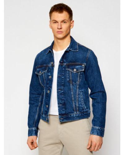 Kurtka jeansowa - granatowa Pepe Jeans