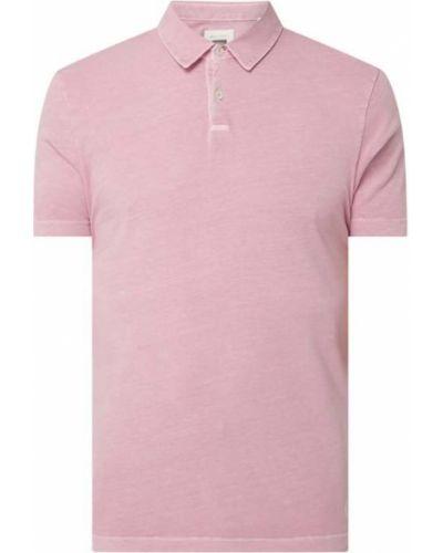 Różowy t-shirt bawełniany Marc O'polo