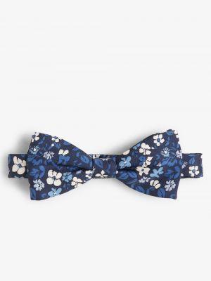Niebieska mucha z jedwabiu elegancka Drykorn