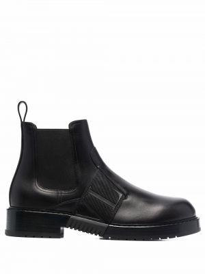Кожаные ботинки челси - черные Valentino Garavani