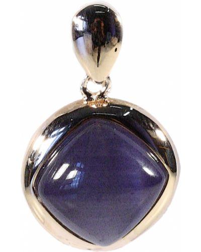 Золотая подвеска серебряный фиолетовый Jewelry Box