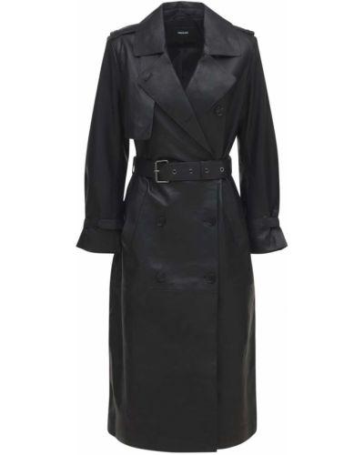 Черная кожаная кожаная куртка Mackage
