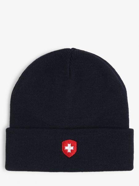 Niebieska czapka beanie Wellensteyn