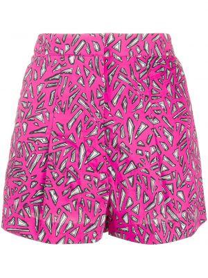 Ватные хлопковые розовые шорты с карманами Markus Lupfer