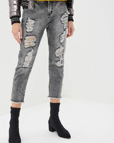 Прямые джинсы итальянский серые Hellen Barrett