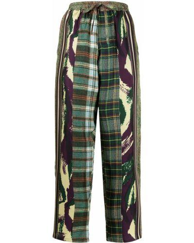Зеленые прямые брюки Pierre-louis Mascia