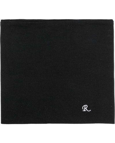 Czarny szalik z haftem Raf Simons