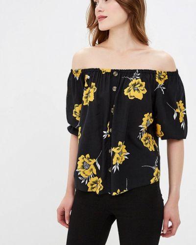 Блузка с открытыми плечами черная Dorothy Perkins