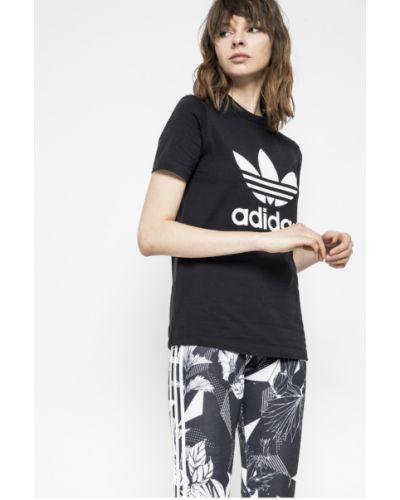 Черная футболка прямая Adidas Originals
