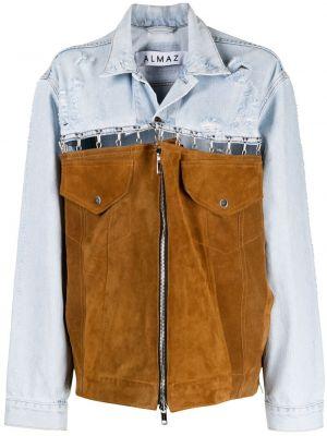 Синяя джинсовая куртка на молнии с воротником Almaz