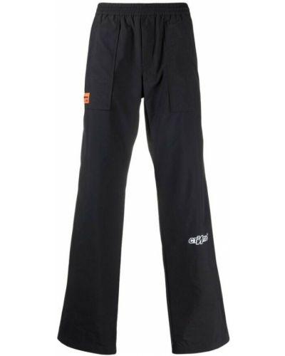Czarne spodnie Heron Preston