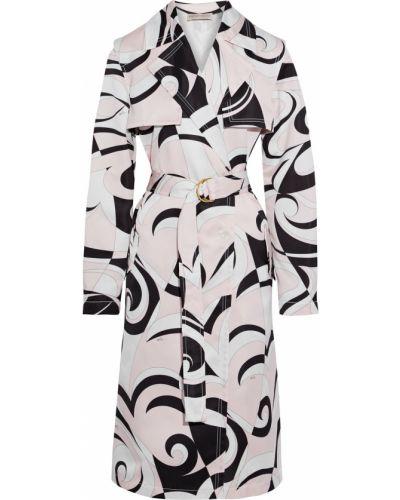 Розовое пальто с карманами на кнопках Emilio Pucci