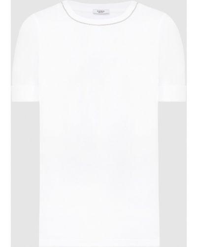Белая футболка в рубчик Peserico