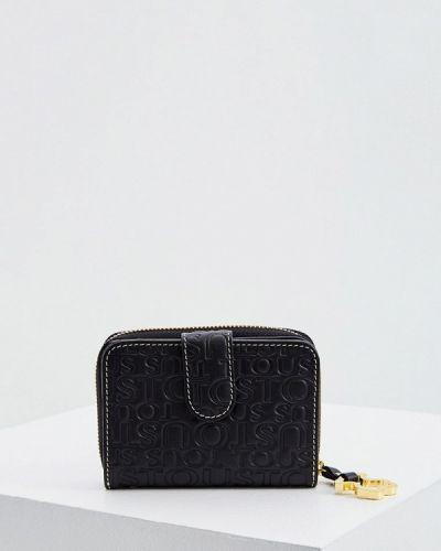 Черный кожаный кошелек Tous