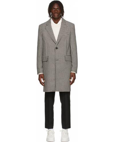 Długi płaszcz wełniany - biały Ami Alexandre Mattiussi