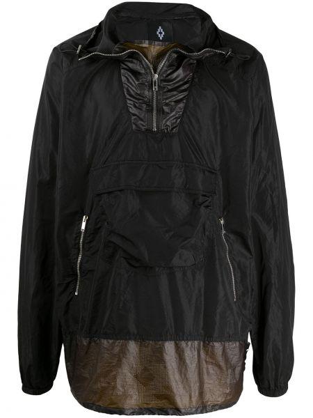 Czarna długa kurtka z długimi rękawami Marcelo Burlon County Of Milan