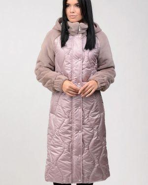 Теплая розовая утепленная куртка Raslov