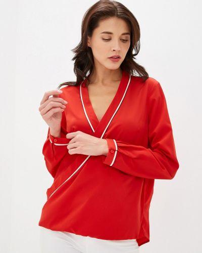 Блузка с длинным рукавом красная Sisley