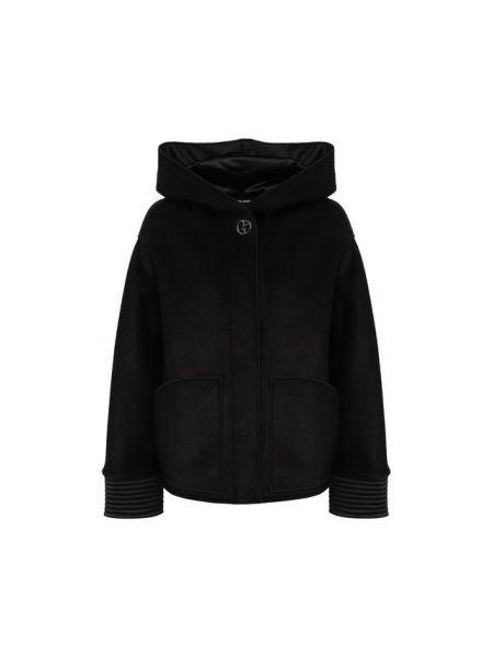 Куртка с капюшоном мятная на кнопках с манжетами из вискозы Giorgio Armani