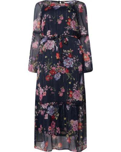 Sukienka rozkloszowana z falbanami w paski Junarose