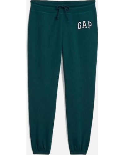 Флисовые спортивные брюки - зеленые Gap