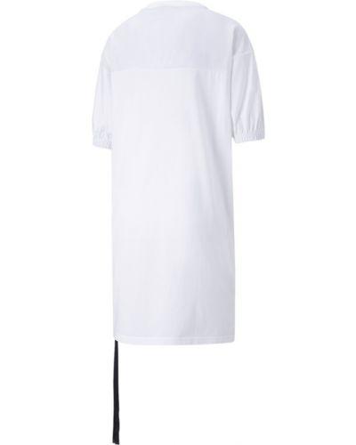 Белое платье с вышивкой Puma