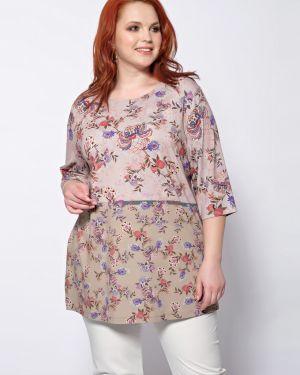 Прямая блузка с рукавом 3/4 с вырезом круглая Dora