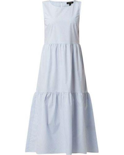 Sukienka midi bawełniana - niebieska More & More