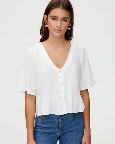 Блузка с коротким рукавом белая турецкий Pull&bear