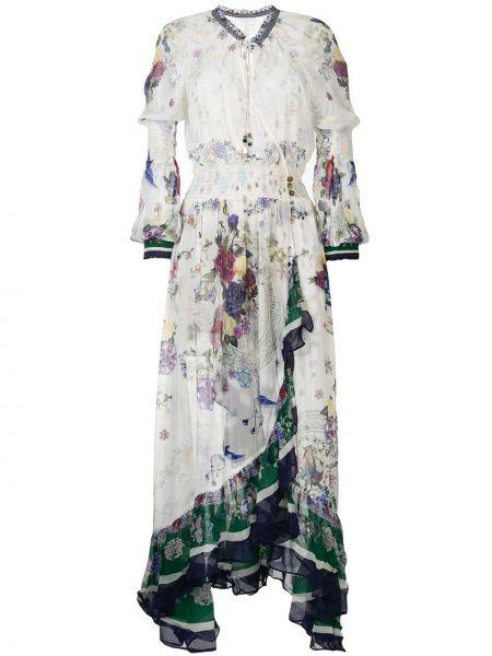 Платье с поясом с запахом на пуговицах Camilla